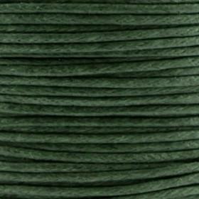 Waxkoord 1.0mm Donker olijf groen