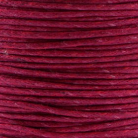 Waxkoord 1.0mm Aubergine red