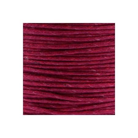 Waxkoord 1.0mm Aubergine red
