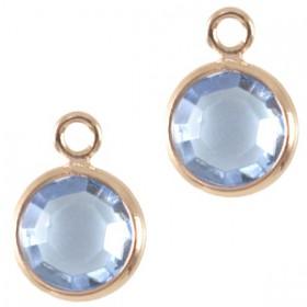 DQ facethanger Rosé goud Light sapphire