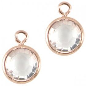 DQ facethanger Rosé goud Crystal