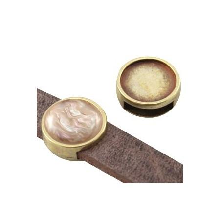 DQ schuiver setting antiek brons voor 12mm cabochon