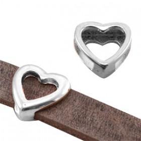 DQ metaal schuiver hart Antiek zilver