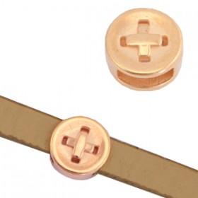 DQ metalen schuivers knoop Rosé goud