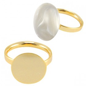 DQ metalen ringen  Gold plated 15mm