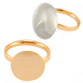 DQ metalen ringen  Rosé gold plated 15mm