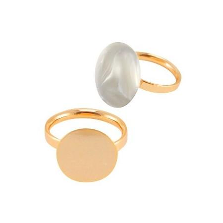 DQ metalen ringen  Rosé gold plated 15mm