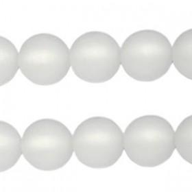 Polaris kralen mat rond 8 mm Bianco wit