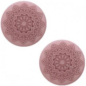 20 mm platte cabochon Polaris Elements Mandala print matt Bridal rose