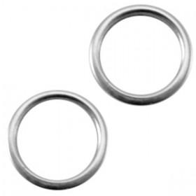 DQ metaal dichte ring 8x1.2mm Antiek zilver