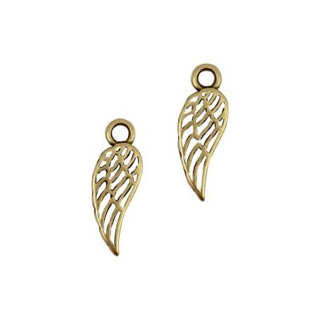 DQ metalen bedels angel wing Antiek brons