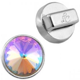 DQ metaal setting/hanger voor 12 mm Rivoli puntsteen Antiek zilver (nikkelvrij)