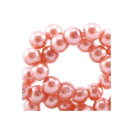 Glaskraal pearl Rose Peach 8mm