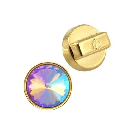 DQ metaal setting/hanger voor 12 mm Rivoli puntsteen Goud (nikkelvrij)