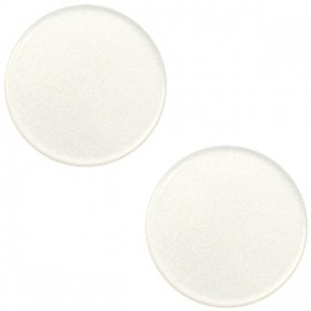 12mm platte cabochon Super Polaris Antique white