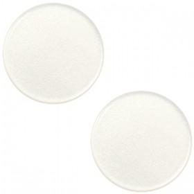 12mm platte cabochon Super Polaris Antique white
