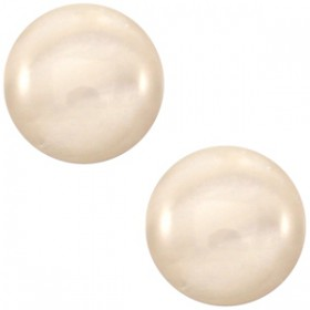 20 mm classic cabochon Mosso shiny silk beige