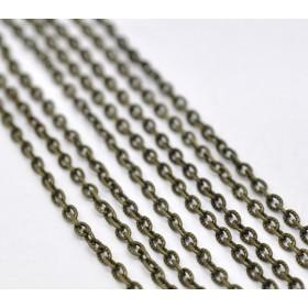 Basic quality ketting met open links Antiek brons