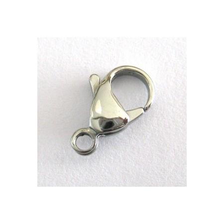 RVS metaal karabijn slot 12mm  (nikkelvrij)