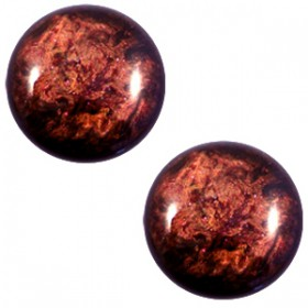 12mm platte cabochon classic Polaris Stardust Port royale red