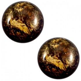 12mm cabochon classic Polaris Stardust Dark smoke topaz