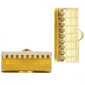 DQ metaal veterklem 15mm Goud (nikkelvrij)