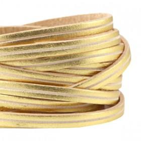 DQ leer suède plat 5mm 2s Gold - beige