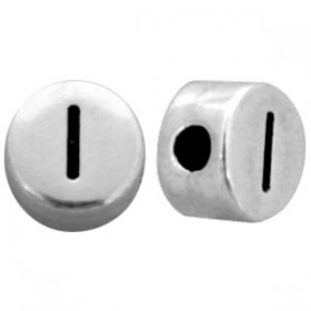 DQ metaal letterkraal I antiek zilver