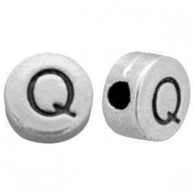 DQ metaal letterkraal Q antiek zilver