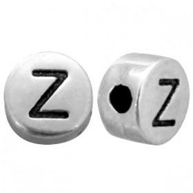 DQ metaal letterkraal  antiek zilver