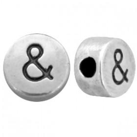 DQ metaal letterkraal & antiek zilver