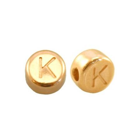 DQ metaal letterkraal K Goud