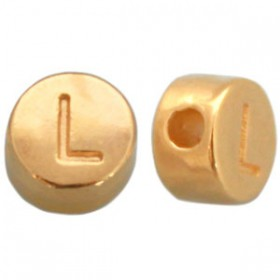DQ metaal letterkraal L Goud