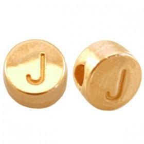 DQ metaal letterkraal J Goud