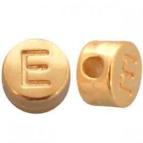 DQ metaal letterkraal E Goud