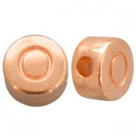 DQ metaal letterkraal O Rosé goud
