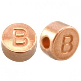 DQ metaal letterkraal B Rosé goud