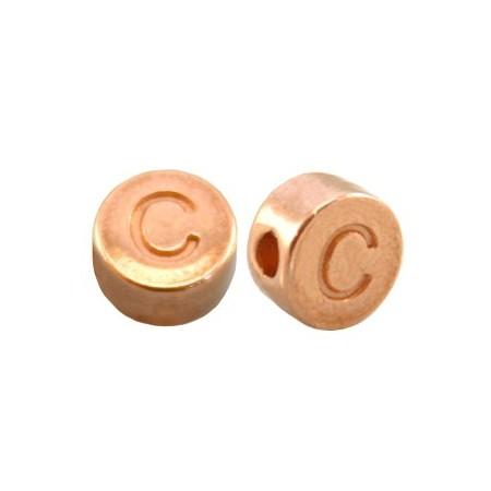 DQ metaal letterkraal C Rosé goud