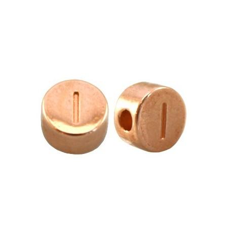 DQ metaal letterkraal I Rosé goud