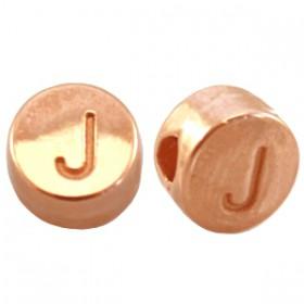 DQ metaal letterkraal J Rosé goud