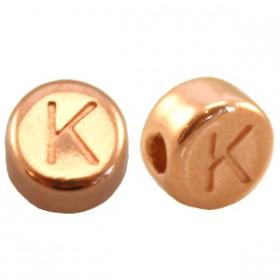 DQ metaal letterkraal K Rosé goud
