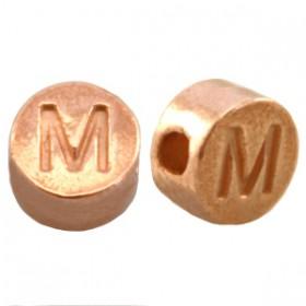 DQ metaal letterkraal M Rosé goud