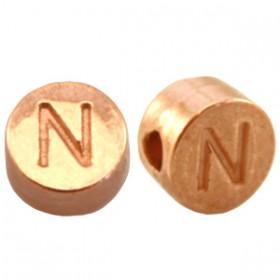 DQ metaal letterkraal N Rosé goud
