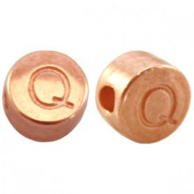 DQ metaal letterkraal Q Rosé goud