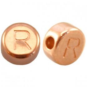 DQ metaal letterkraal R Rosé goud