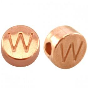 DQ metaal letterkraal W Rosé goud