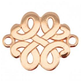 DQ connector barok rosé goud