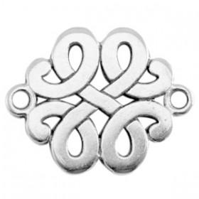 DQ connector barok zilver