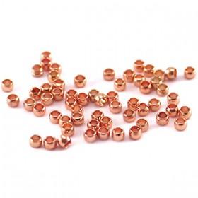 DQ knijpkraaltjes 2mm rosé goud