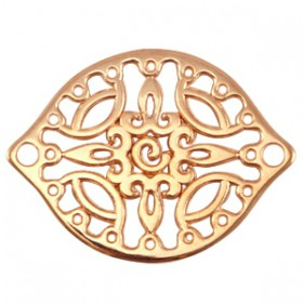 DQ metalen tussenstuk Rosé goud (nikkelvrij)